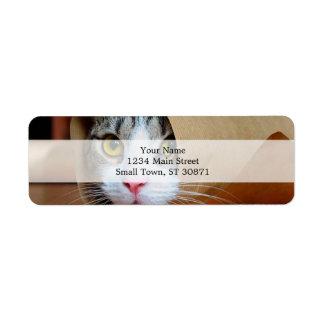 Paper cat - funny cats - cat meme - crazy cat label