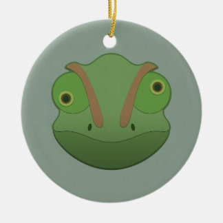 Paper Chameleon Ceramic Ornament