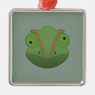 Paper Chameleon Metal Ornament