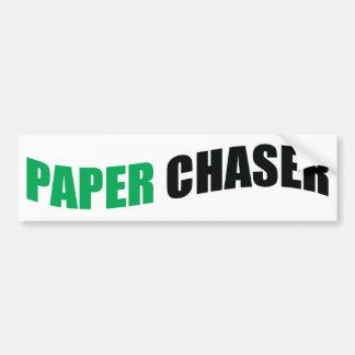 Paper Chaser BUMPER STICKER
