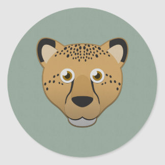 Paper Cheetah Classic Round Sticker