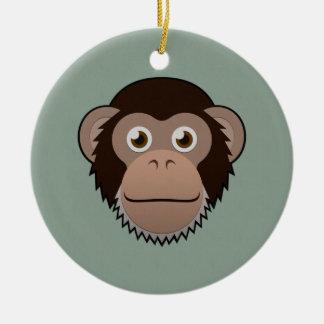 Paper Chimpanzee Ceramic Ornament