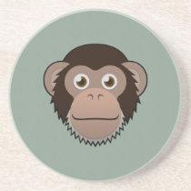 Paper Chimpanzee Sandstone Coaster