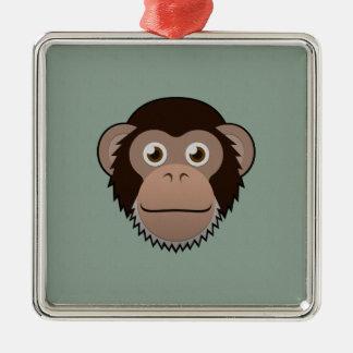 Paper Chimpanzee Metal Ornament