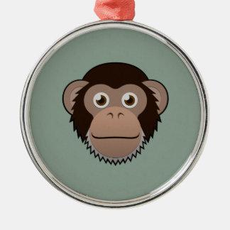 Paper Chimpanzee Christmas Ornament