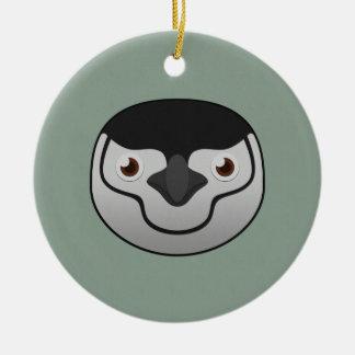 Paper Chinstrap Penguin Ceramic Ornament