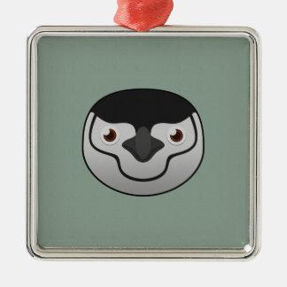 Paper Chinstrap Penguin Metal Ornament