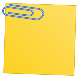 Paper Clip and Note Acrylic Cut Outs