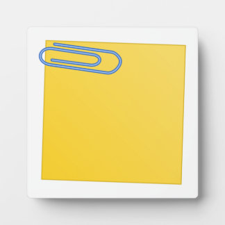 Paper Clip and Note Plaque