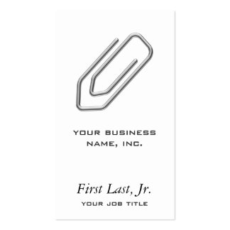 Paper Clip Business Card Templates