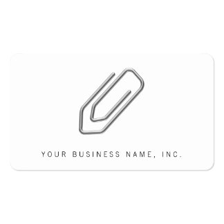 Paper Clip Business Card Template