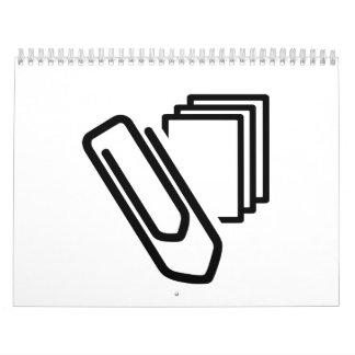 Paper clip documents calendar