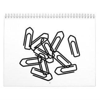 Paper clips calendar