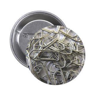 Paper clips pinback button