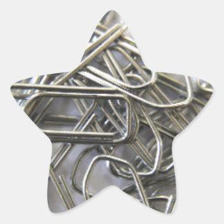 Paper clips star sticker