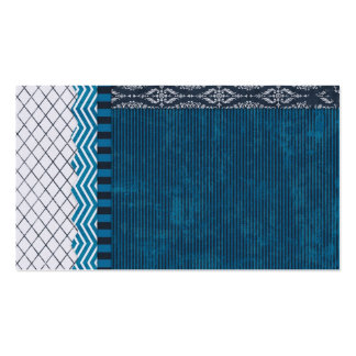 PAPER CLUSTER SCRAP-BOOKING STRIPES SOLIDS TEAL WH BUSINESS CARD TEMPLATE