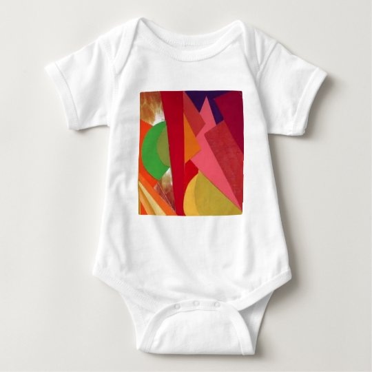 Paper Collage Baby Bodysuit