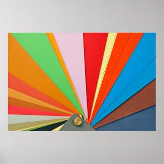 paper color sampler poster