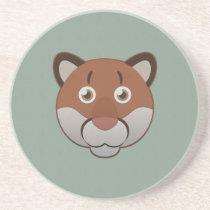 Paper Cougar Sandstone Coaster