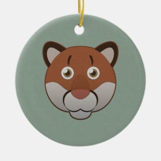 Paper Cougar Ceramic Ornament
