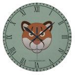 Paper Cougar Clocks
