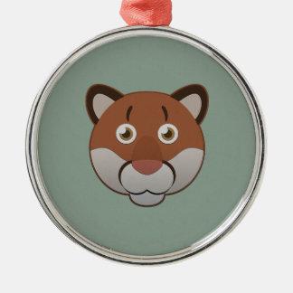 Paper Cougar Metal Ornament