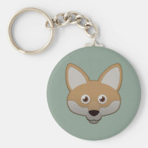 Paper Coyote Keychain