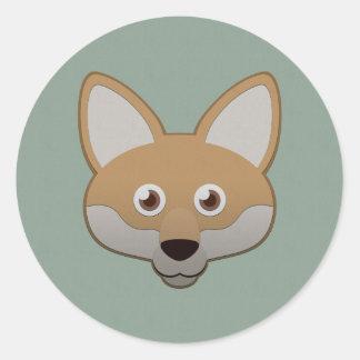 Paper Coyote Classic Round Sticker