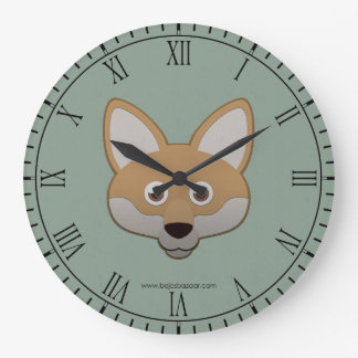 Paper Coyote Large Clock