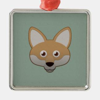 Paper Coyote Metal Ornament