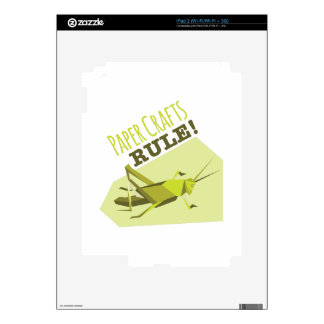 Paper Crafts Rule Skins For iPad 2