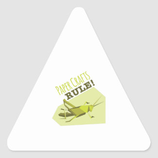 Paper Crafts Rule Triangle Sticker