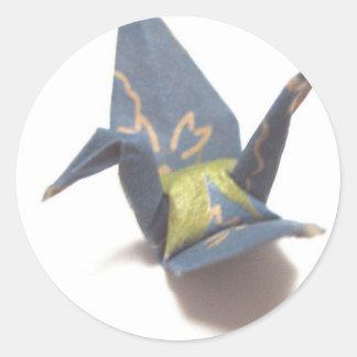 Paper Crane Classic Round Sticker