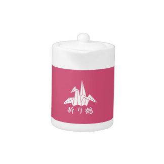 Paper crane teapot