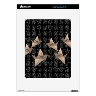 Paper cranes decal for iPad