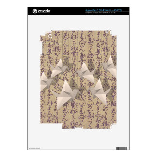 Paper cranes decal for iPad 3