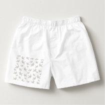 Paper cranes pattern boxers