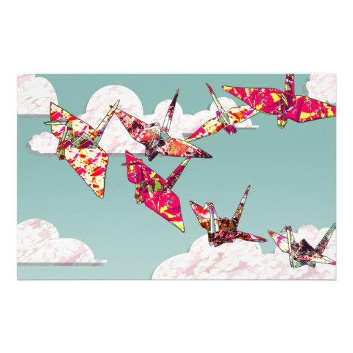 Paper Cranes Stationery