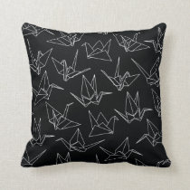 Paper Cranes Throw Pillow