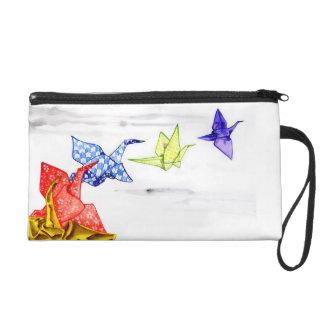 Paper Cranes Wristlet