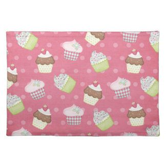 Paper cupcakes placemat