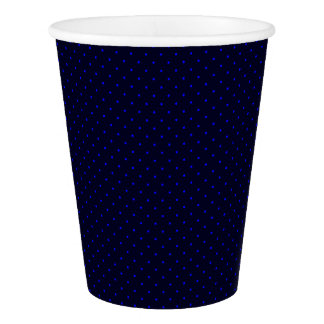 Paper Cups Dark Blue with Royal Blue Dots