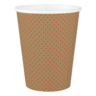 Paper Cups Gold with Red Dots