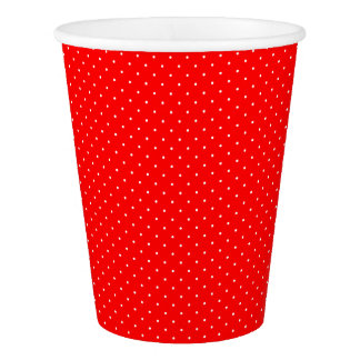 Paper Cups Red with White Dots