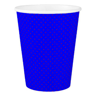 Paper Cups Royal Blue with Red Dots