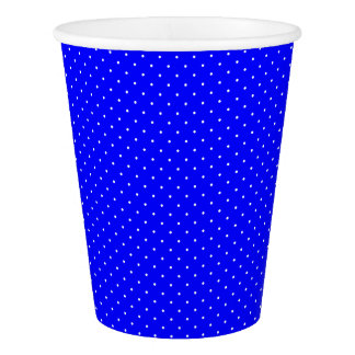 Paper Cups Royal Blue with White Dots