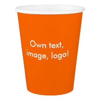Paper Cups uni Orange