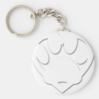 Paper Cut Dog Paw And Heart Shape Keychain