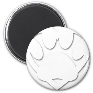 Paper Cut Dog Paw And Heart Shape Magnet
