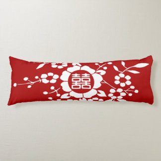 Paper Cut Flowers • Double Happiness Body Pillow